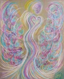 Wisdom of the Angels - Angel of Ascension pastel painting