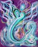 Wisdom of the Angels - Angel of the Sea pstel painting