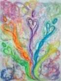 Wisdom of the Angels - Angel for Lightworkers pastel painting