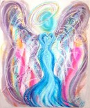 Angel of Devine Relationships pastel painting