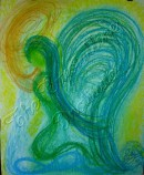 Wisdom of the Angels - Angel of Healing abuse pastel painting