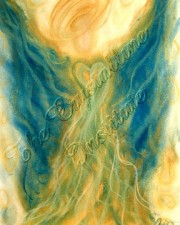Musical Inspiration angel art pastel painting