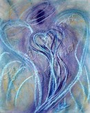 Angel of Spiritual Transformation pastel painting