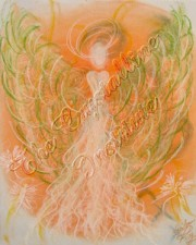 Manifestation Angel Art Pastel Painting