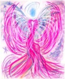 Angel of the Twin Flame pastel painting