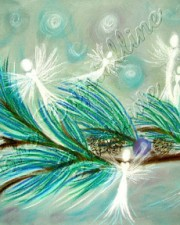 Winter Fairies Angel Art Pastel Prints