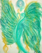 Inner Peace Angel Art Pastel Print