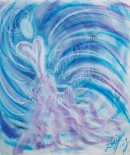 Wisdom of the Angels - Angel of Harmony pastel painting
