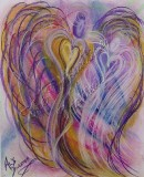 Angel of Enlightenment pastel painting