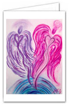 Wisdom of the Angels - Angel Art greeting cards