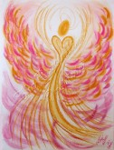 Angel of Positive Attitude pastel painting