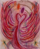 Angel of Sympathy pastel painting