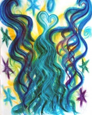 unity angel art pastel painting art