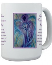 Wisdom of the Angels - spiritual transformation angel art mug