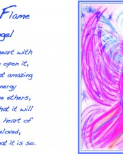 Twin Flame Angel Art Greeting Card