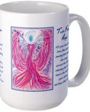 twin flame angel art mug