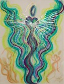 Angel of the World pastel painting