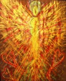 Angel of emotional healing pastel painting