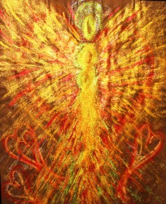 Wisdom of the Angels - Angel of emotional healing art
