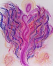 Angel of Sedona pastel painting