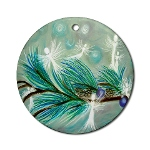 winter fairies angel art ornament