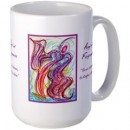 Wisdom of the Angels - angel art mug