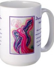 dancing star angel mug