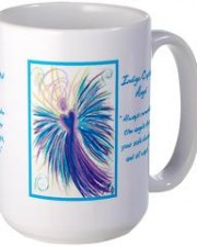 indigo crystal angel art mug