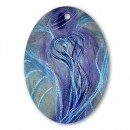 Wisdom of the Angels - angel art oval ornament