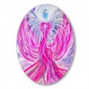 Wisdom of the Angels - angel art oval ornament, Angel Gifts, Angelic Art, angels, Art, emotions, healing art, Love, New age gifts, soul mate, spirituality, true love, twin flame, unconditional love, Visionary Art