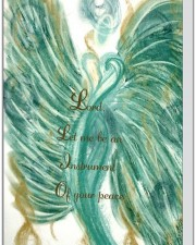 Wisdom of the Angels - angel art card, Hospice, illness, love, greeting cards, death, dying