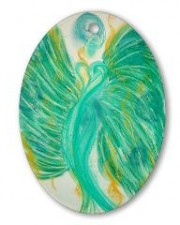 inner peace angel art ornament