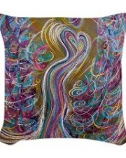 Wisdom of the Angels - Angel of Chakra woven pillow
