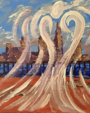 Angel of the Hudson Art Prints