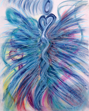 Wisdom of the Angels - Soul Integration Angel art